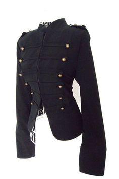 Vintage 80s epaulette black  dandy  Gothic Military  by shmooozin