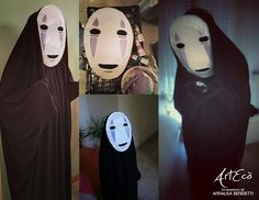 "Senza Volto ""La città incantata"" Miyazaki No Face ""Spirited away"" Mask and costume by ArtEcò Creazioni di Annalisa Benedetti Cosplayer: Michele Ricci  Cartapesta, Cosplay, Cosplayer, Japan,Mask, Miyazaki"
