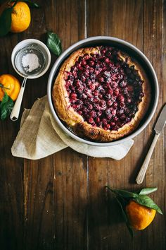 Hummingbird High - A Desserts and Baking Food Blog in Portland, Oregon: Cranberry, Ginger and Satsuma Clafoutis