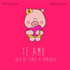Love Kiss, My Love, Romantic Humor, Pig Facts, Pig Images, Cute Messages, Mr Wonderful, Cute Pigs, Line Friends