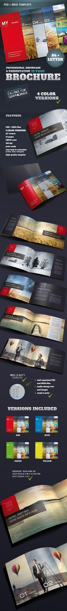 Portfolio & Showcase Brochure by Danijel Mokic, via Behance