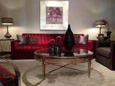Greek key console table by Lexington Home Brands- Interior Design Trends #GreekKey #gold #brass #HPmkt #StyleSpotters http://www.lexington.com/