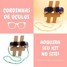 A tendência da vez para o verão são as cordinhas para óculos. 🌞 Elas  vieram com tudo em versões repaginadas para deixar o look mais fashion e  antenado, ... d4f5bf80c9