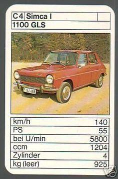 Simca 1100 GLS Top Trumps, Grand Caravan, Military Photos, Vintage Games, Old Cars, Peugeot, Hot Wheels, Classic Cars, Automobile
