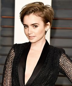Lily Collins pixie