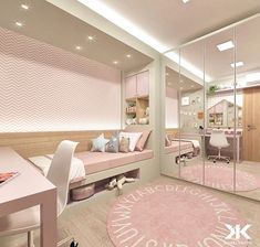 Small kids room ideas for girls bedrooms pink 20 Ideas Room Design Bedroom, Girl Bedroom Designs, Room Ideas Bedroom, Home Room Design, Small Room Bedroom, Bedroom Decor, Pink Bedroom For Girls, Girl Rooms, Cute Room Decor