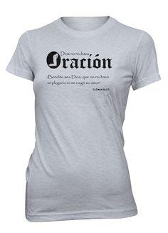 Dios no rechaza Oracion Poder Versiculo Biblia Camiseta Cristiana Mujer Camisas  Cristianas 9fbe07e087a88