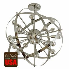 sputnik lamp — to replace the janky chandelier in the attic's stairwell? $770