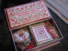 """Whitman Tin by Sue Hillis.  Would love to stitch this.  Just add it to my """"to-do"""" list!"""