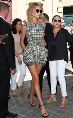 Rosie Huntington-Whiteley from The Big Picture: Today's Hot Pics The model-actress looks chic at the Christian Dior show at Paris Haute Couture Fashion Week.