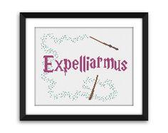 PDF - Expelliarmus Harry Potter Cross Stitch Pattern