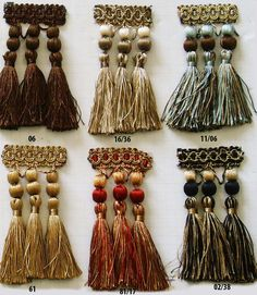 Tassel Fringe Diy Tassel, Tassels, Living Room Decor Curtains, Passementerie, Home Decor Fabric, Traditional Decor, Curtain Fabric, Fringes, Lampshades