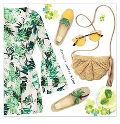 """""""summer freshness"""" by mari-meri ❤ liked on Polyvore featuring Mar y Sol, Tory Burch and Christian Dior"""