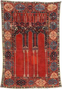 The 'Anton Danker' Ladik Coupled-Column Prayer Rug