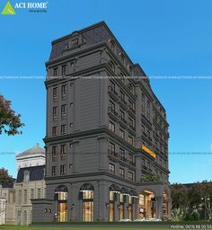 Thiết kế khách sạn cổ điển Pháp tại Vũng Tàu Elevation Plan, House Elevation, Vung Tau, Apartment Projects, Vietnam, Multi Story Building, Ocean, House Design, Sea