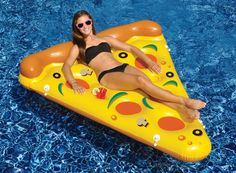 Swimline 90645 Giant Inflatable Pizza Slice Float Raft for The Lake Beach Pool in Toys & Hobbies, Outdoor Toys & Structures, Sand & Water Toys, Floats, Rafts Inflatable Float, Giant Inflatable, Pizza Pool Float, Sommer Pool Party, Sports Nautiques, Water Sports, Pool Rafts, Swimming Pool Water, Pool Floats