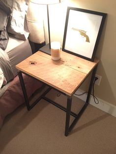 Reclaimed bedside tables