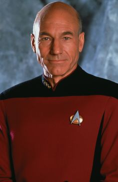 """Jean Luc Picard. I saw Patrick Stewart in Hamlet and the only thing I could think about when he first got on stage was, """"OMG! It's Jean Luc Picard!"""" Love ya, Patrick Stewart. Roseanne Barr, New Star Trek, Actors & Actresses, Stars, Celebrities, June 19, Fictional Characters, Discovery, Studios"""