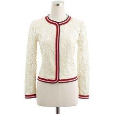 Sequin jacket via Polyvore