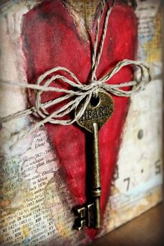 The key to my heart tied up with a string-bow...