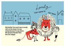 Shinzi Katoh ポストカード<lonely lion> | | | 「かわいい雑貨 屋 chotto futto」