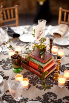 there will be books and candles at my wedding