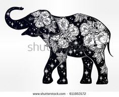 Mehndi Elephant Coloring Pages : Pin by shreya thakur on free coloring pages adult