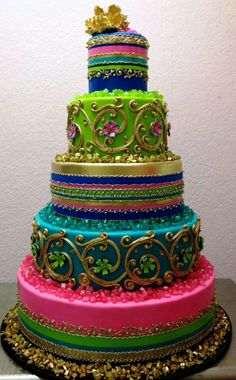 best styled cakes | Best cake ever by Bronwen Weber | Indian / Moroccan Style Cakes