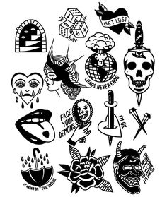 Old School Tattoo Inspiration - Old school tattoos may be the most versatile . - Old School Tattoo Inspiration – Old school tattoos are perhaps the most versatile and have proven - Flash Art Tattoos, Tattoo Flash Sheet, Body Art Tattoos, Small Tattoos, Old Tattoos, Mini Tattoos, Tatoos, Kritzelei Tattoo, Tattoo Dotwork