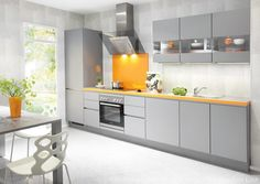 The new 2014 range of LINE N handleless kitchens from Nobilia available at The Kitchen Link
