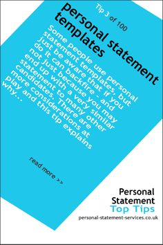 Using-templates-to-write Personal statement