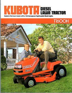 1990 KUBOTA TRACTOR LAWN & GARDEN T1600H BROCHURE for USD7.00 #Collectibles #Advertising #Agriculture #BROCHURE Like the 1990 KUBOTA TRACTOR LAWN & GARDEN T1600H BROCHURE ? Get it at USD7.00!