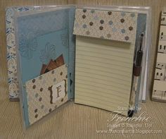Note Pad Holder- Stamp a Insert for Clear Case. DYI Christmas gift for the one who has everything.