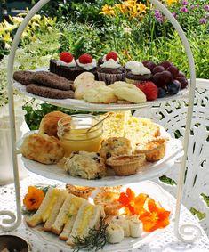 Aiken House & Gardens: Downton Abbey Garden Tea – Famous Last Words Tea Sandwiches, Downton Abbey, English Afternoon Tea, Afternoon Tea Parties, Afternoon Tea Recipes, Tea Time, House Gardens, Food And Drink, Cooking Recipes