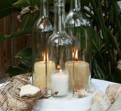 wine bottle candle decor