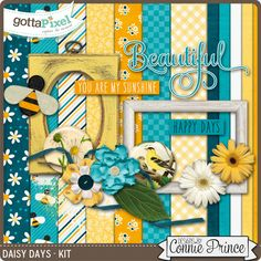 Daisy Days - Kit :: Pixel Club Full Daily Downloads :: Pixel Club :: Gotta Pixel Digital Scrapbook Store March 2016 by Connie Prince