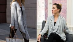 Cardigan With Built-In Infinity Scarf