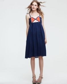 Lauren Moffat. Top Tie Dress - NVY. $225