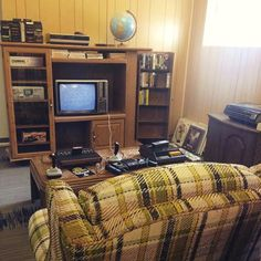 Image result for 80's family photos living room