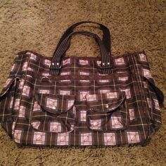 Roxy bag Roxy bag. Great for the beach, sleepovers, etc. Excellent condition. Just lowered the price(: Roxy Bags