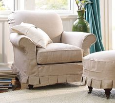 Sweet chair; playroom maybe...Savannah Armchair | Pottery Barn