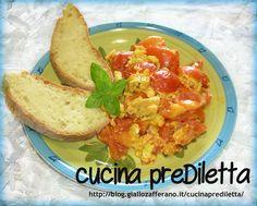 Uova strapazzate al pomodoro,ricetta veloce