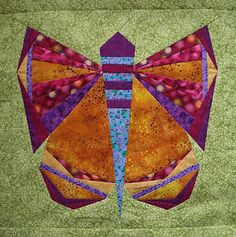 Paper-pieced Butterfly