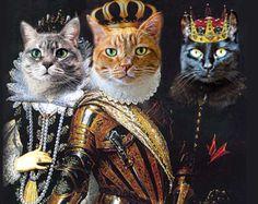 renaissance children with cats - Google Search
