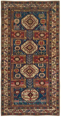 BAKU, SOUTHEAST CAUCASIAN, 3FT 9IN X 7FT 3IN, LATE 19TH CENTURY http://www.claremontrug.com/antique-rugs-information/collecting/claremont-rug-companys-new-acquisition-highlights-antique-persian-rugs/baku-southeast-caucasian-3ft-9in-x-7ft-3in-late-19th-century/