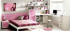 Quartos planejados para jovens rosa