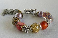 Lampwork Beads Handmade Beaded Bracelet por bdzzledbeadedjewelry