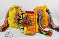 Wer auffallen will, muss strahlen wie die Sonne ! Die farbenfrohen Mochila Wayuu Taschen in gelb sind bestimmt ein Blickfang ! Hol dir jetzt ein Unikat bei www.molago.de  #Tasche #Unikat #Wayuu #Mochila #handgemacht #Kolumbien #Colombia