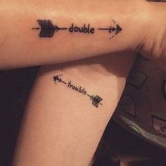 For all siblings: matching tattoo ideas that are more than awesome! - The perfect matching tattoo for siblings - Twin Tattoos, Sibling Tattoos, Paar Tattoos, Tatuajes Tattoos, New Tattoos, Small Tattoos, Cool Tattoos, Temporary Tattoos, Tattoos For Twins