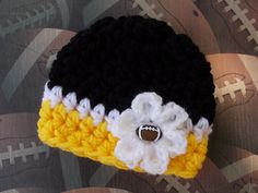 Steelers baby newborn knit hat Etsy listing at http://www.etsy.com/listing/160434529/nfl-pittsburgh-steelers-inspired-baby